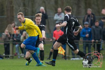 02-04-2016 Stads derby vv Hattem - Hatto Heim eindigt in een 2-2 gelijk spel in Hattem. - ©NWVFoto.nl