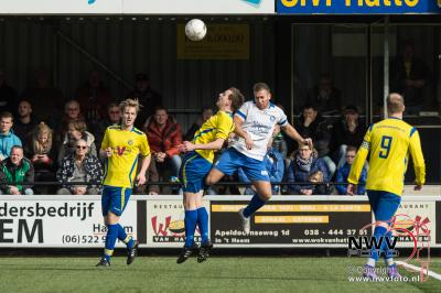 Voetbal derby in de 3e klasse C Hatto Heim tegen Wzc eindigd in een 2-2 gelijkspel  - ©NWVFoto.nl