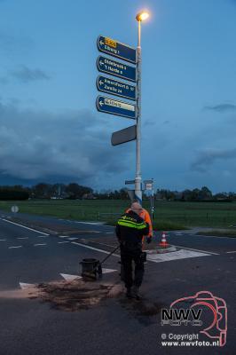 27-04-2016 Eenzijdig ongeval rotonde N309 Zuiderzeestraatweg - Gerichtenweg Elburg. - ©NWVFoto.nl