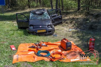 Eenzijdig ongeval met letsel A28 Re 65.1 Nunspeet 08-05-2016 - © NWVFoto.nl