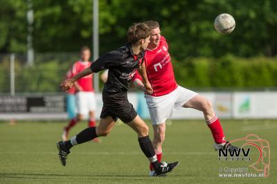In de nacompetitie zijn vv Hulshorst tegen vv Oene niet verder gekomen dan een gelijk spel - ©NWVFoto.nl