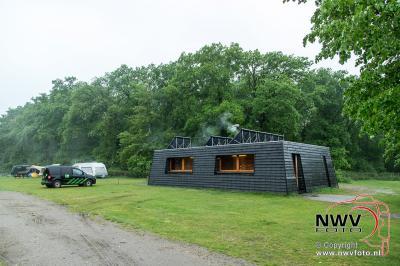 Inzet brandweer i.v.m. mogelijk brand op natuurcamping Pas-Opweg Nunspeet. - ©NWVFoto.nl