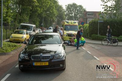 Ongeval letsel fietser met auto Wolkamerweg  Lomodisweg 'tHarde - ©NWVFoto.nl