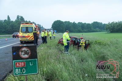 Eenzijdig ongeval A28 Li 81.0 Wezep - ©NWVFoto.nl