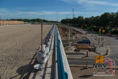 Nieuwe viaduct A28 over de N309 't Harde gereed voor het asfalt. - ©NWVFoto.nl