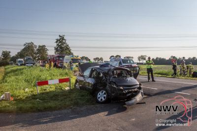 Motorrijder komt om het leven op Kamperstraat Kamperveen. - ©NWVFoto.nl