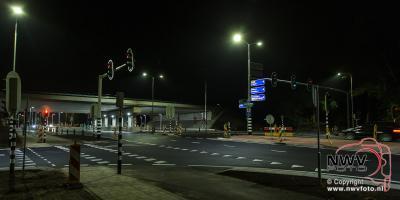 Verkeerslichten Eperweg N309 t.h.v. viaduct A28 in gebruik genomen. - ©NWVFoto.nl