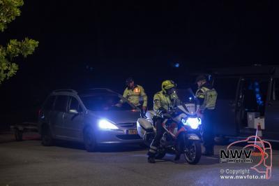 Grote politie verkeerscontrole op 't Harde - ©NWVFoto.nl
