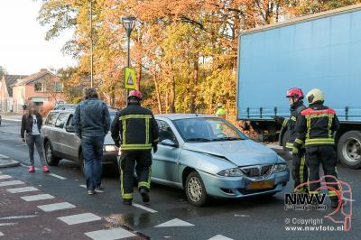 Kopstaart botsing Eperweg N309 leidt tot file op 't Harde en A28. - ©NWVFoto.nl