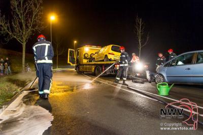 Frontale aanrijding op de Oostelijke Rondweg Elburg. - ©NWVFoto.nl