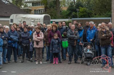 Stille tocht langs Eperweg en herdenking bij Mariposa op 't Harde.  - ©NWVFoto.nl