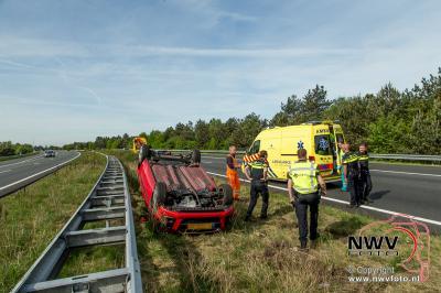 Eenzijdig ongeval A28 Li 67.1 Nunspeet - ©NWVFoto.nl