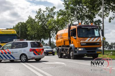 Ongeval Zuiderzeestraatweg N308 met Kamperstraatweg N763 Wezep. - ©NWVFoto.nl