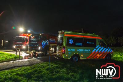 Brand in schuur met opslag van hooi aan de Veelhorsterweg in Nunspeet. - ©NWVFoto.nl