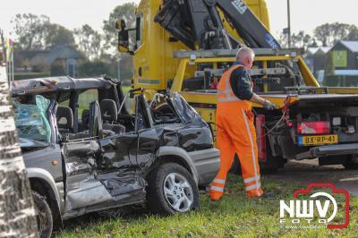 Echtpaar komt om het leven bij ongeval met vrachtwagen op Flevoweg N309 bij Elburg - ©NWVFoto.nl