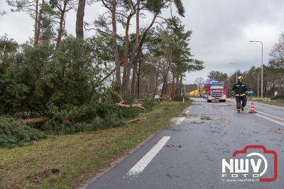 Wind richt veel schade aan op 't Harde - ©NWVFoto.nl