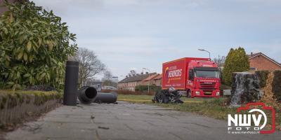 Schoorsteenbrand met veel rookontwikkeling op 't Harde. - ©NWVFoto.nl