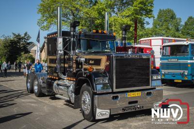 Vijfde editie van de Oldtimer Truckersparade in Oldebroek. - ©NWVFoto.nl