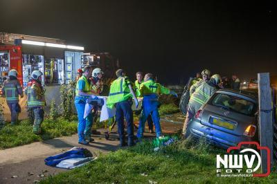 Zwaargewonde bij ongeval op de Flevoweg N309 Elburg. - ©NWVFoto.nl