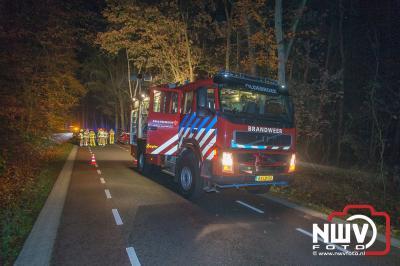 Zwaargewonde bij eenzijdig ongeval Laanzichtsweg Oldebroek. - ©NWVFoto.nl