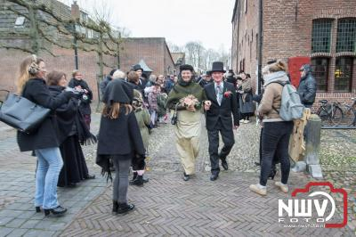 Winter in de Vesting huwelijk tussen Egbert Bos en Anne-Marie van Hout. - ©NWVFoto.nl