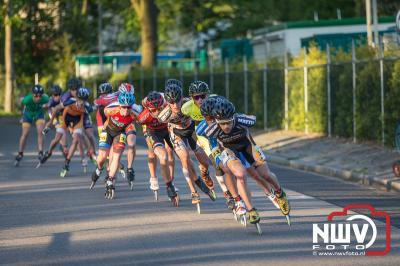 Bianca Rozenboom en Ingmar Berga winnaars bij de KNSB marathon Cup 3 op 'tHarde. - ©NWVFoto.nl