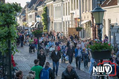 Het buitengebied van Doornspijk en de Hoge Enk was waar het gekleurde lint van de 10 km wandelaars door heen trok op de laatste avond. - ©NWVFoto.nl