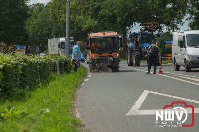 Kop-staartbotsing Zuiderzeestraatweg Oost Elburg- - ©NWVFoto.nl