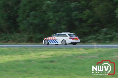 Dode bij ongeval met tankwagen gevuld met gevaarlijke stoffen op de A6 bij Bant. - ©NWVFoto.nl