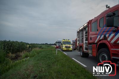 Dode en gewonde na drama ongeval met 580 pk snelle auto op Oostelijke Rondweg in Elburg. - ©NWVFoto.nl