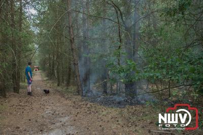 Wandelaar voorkomt door snel handelen dat er weer een grote bosbrand op 'tHarde zou ontstaan. - ©NWVFoto.nl