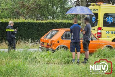 Weer kopstaart botsing op N309 t.h.v. Nieuwstadsweg in Elburg.  - © NWVFoto.nl