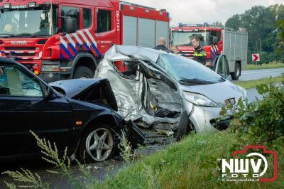 Twee gewonden bij ongeval in de bocht van de Eperweg  N795  60.1 tussen Nunspeet en Epe. - ©NWVFoto.nl