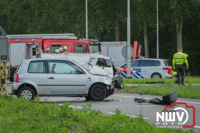 Bij een ongeval op de kruising  Biddingringweg met de Elburgerweg bij Dronten, is een persoon om het leven gekomen. - ©NWVFoto.nl