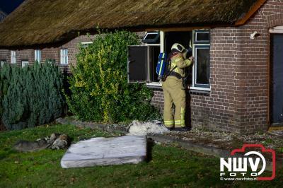 Brand in woning Zuiderzeestraatweg Oldebroek - ©NWVFoto.nl