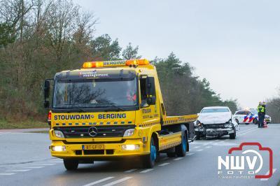 Twee auto's betrokken bij ongeval N309 Eperweg boven op de Wolberg 'tHarde. - ©NWVFoto.nl
