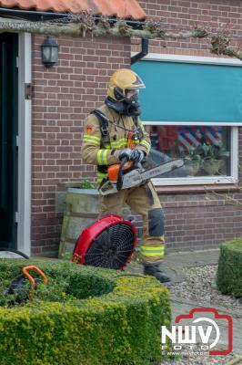 Brand in het plafond van een vrijstaande woning in Doornspijk - ©NWVFoto.nl