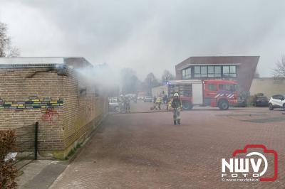 Brand in bijgebouw Vooronder Elburg - ©NWVFoto.nl
