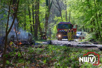 Tesla brand uit bij dodelijk ongeval Hulshorst - ©NWVFoto.nl