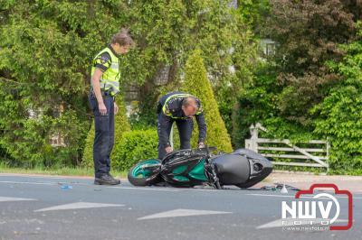 Scooterrijder naar het ziekenhuis door aanrijding met auto Zuiderzeestraatweg Elburg - ©NWVFoto.nl