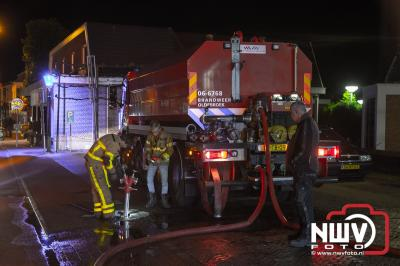 Afgaand alarm trekt aandacht van passerende brandweer Oldebroek. - © NWVFoto.nl
