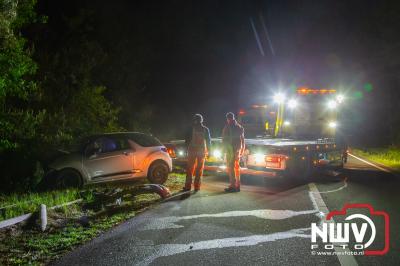 Toerit A28 Li 66.2 Nunspeet tijdelijk afgesloten na eenzijdig ongeval, waarbij automobilist gewond is geraakt. - ©NWVFoto.nl
