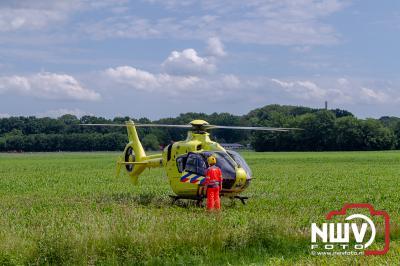 Traumahelikopter ter plaatse bij ongeval wielrenner Kolmansweg Nunspeet - ©NWVFoto.nl