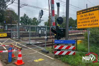 Wissels spoor bij station 't Harde worden vervangen. - ©NWVFoto.nl