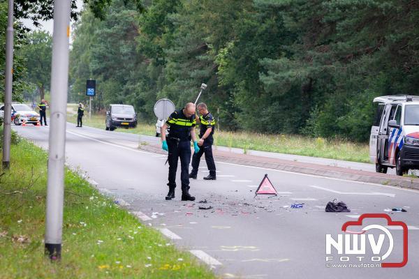 Aanrijding met ernstig letsel ten gevolge van een auto met pech op de N309. - ©NWVFoto.nl