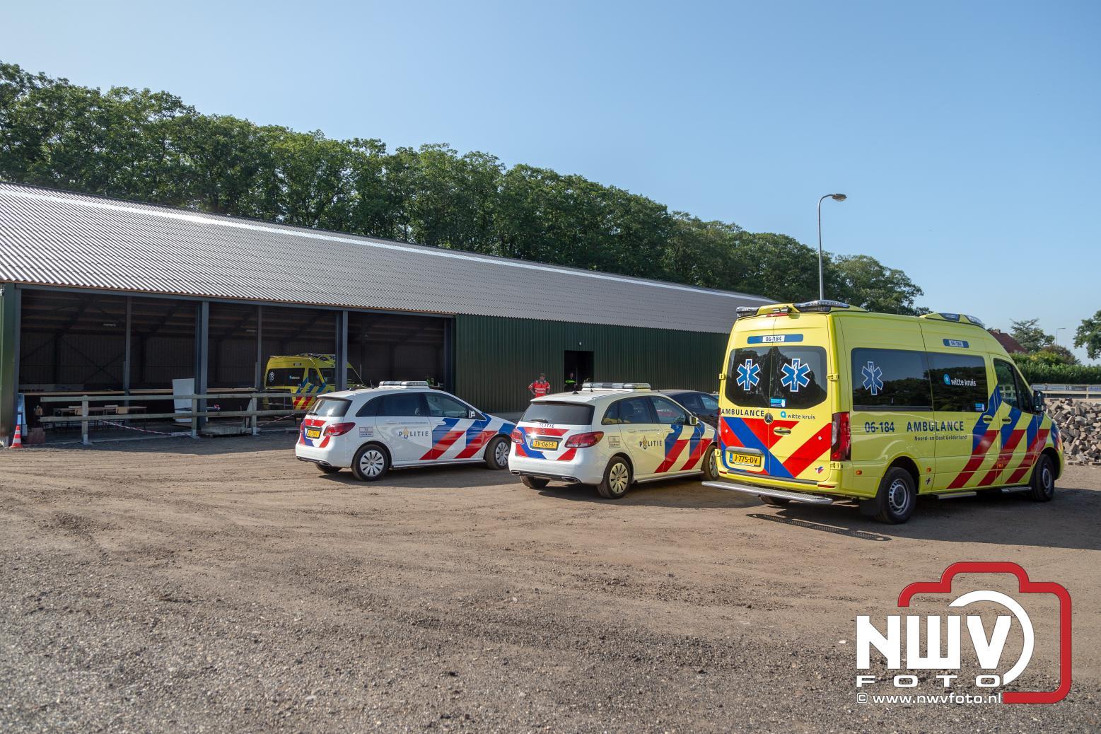 Medische inzet traumahelikopter bij manege Oldebroek - ©NWVFoto.nl