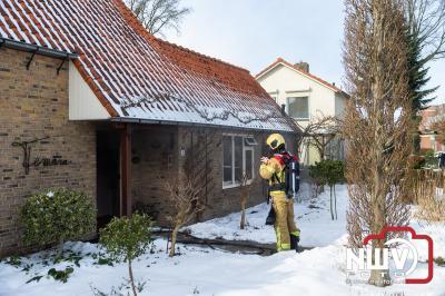 Printer oorzaak brand kantoorruimte in woning, en zorgt voor veel rook schade. - ©NWVFoto.nl