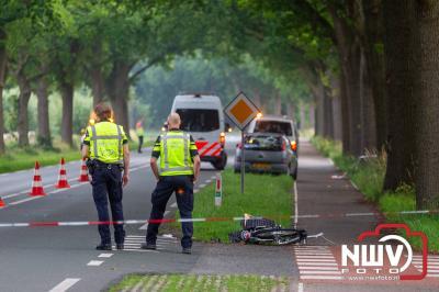 Opgeroepen traumahelikopter voor ongeval fietser met auto t.h.v. Stoopschaarweg, N309 Zuiderzeestraatweg-Oost in Elburg gecanceld. - © NWVFoto.nl