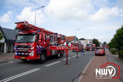 Brand in woongedeelte technische installatiebureau Stationsweg Wezep - © NWVFoto.nl